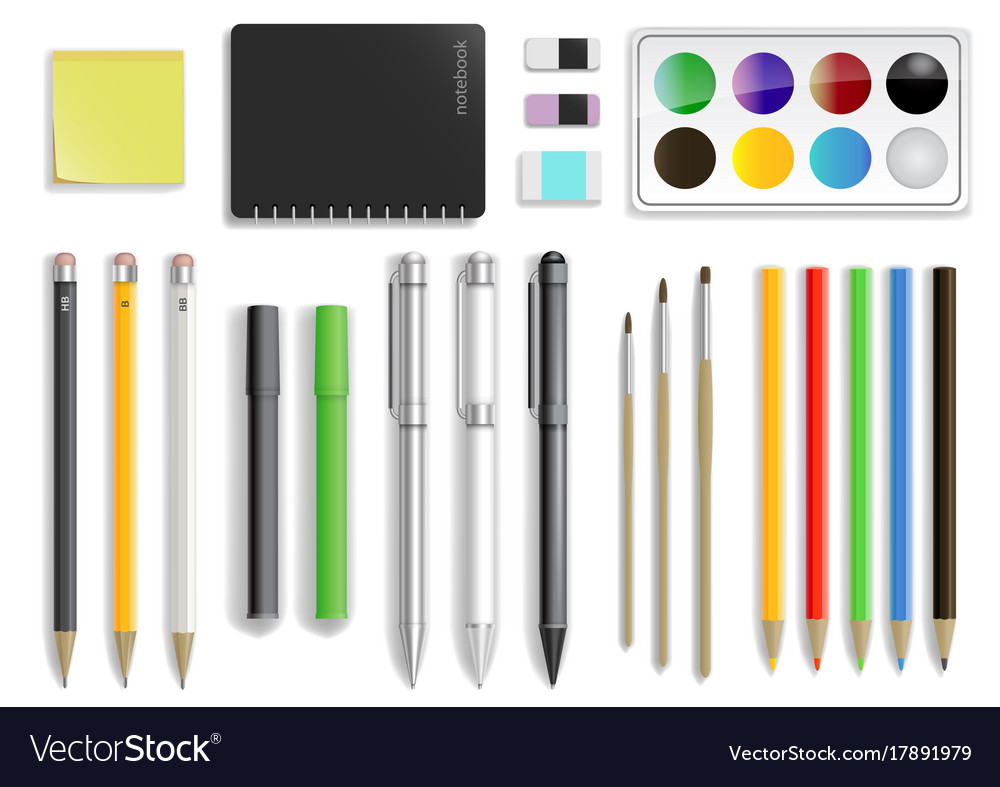 Set of stationery in