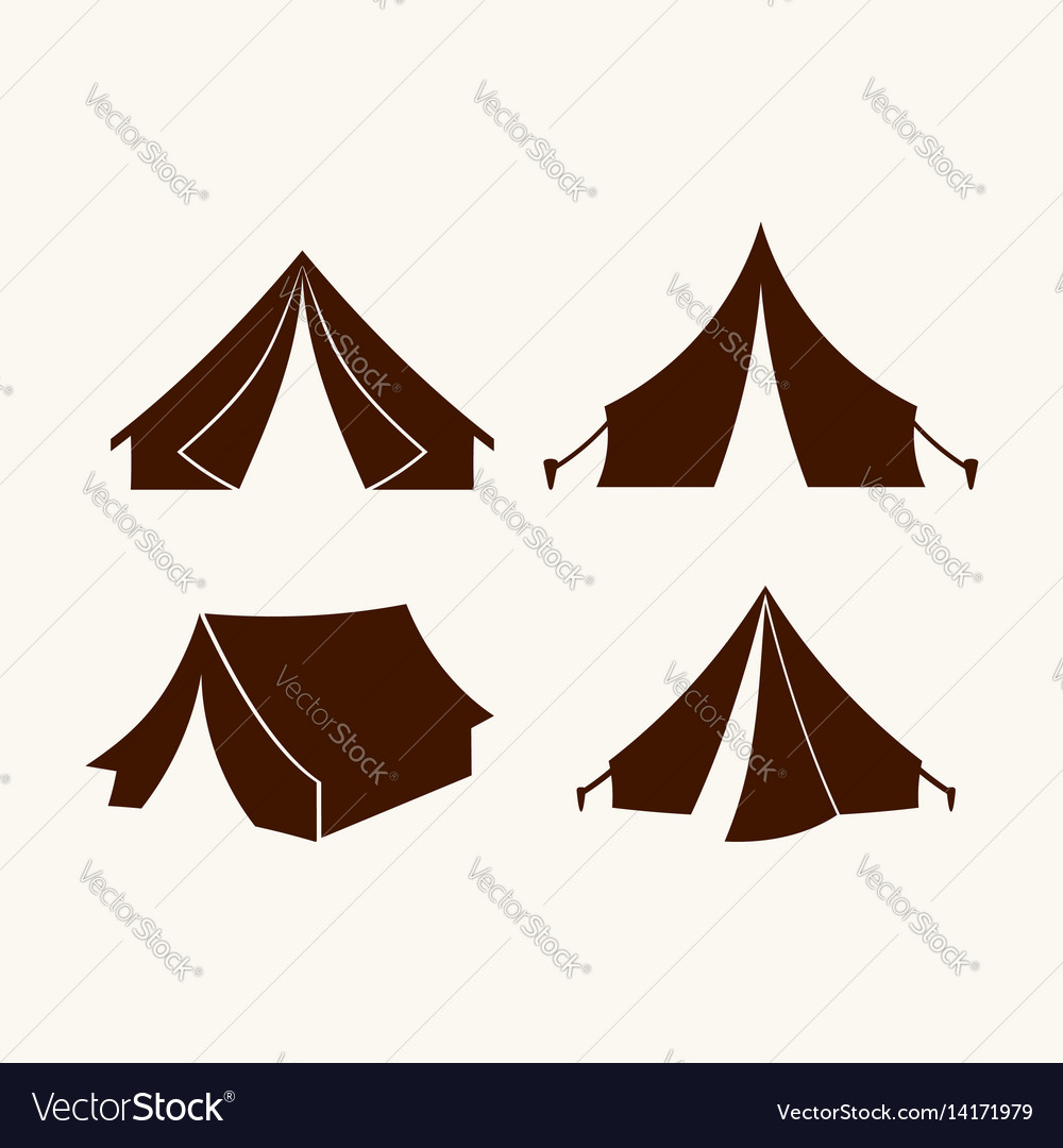 Set of tents for logo