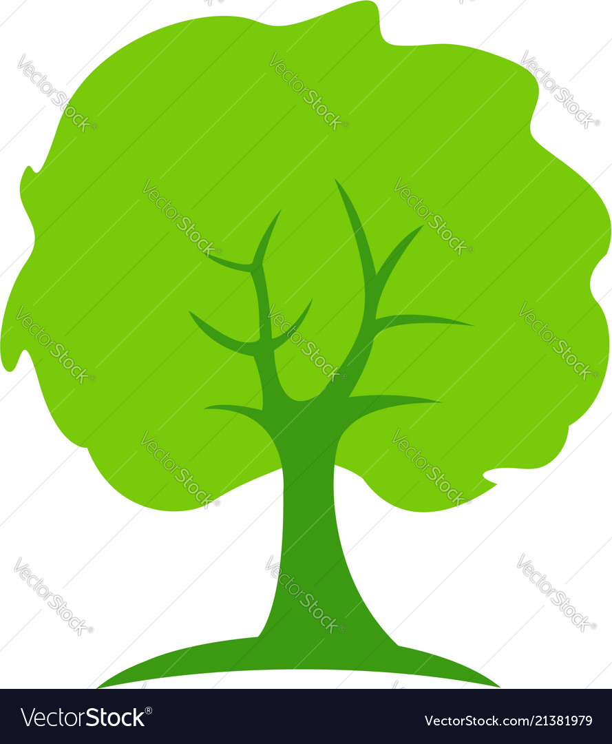 Tree abstract green people growth concept