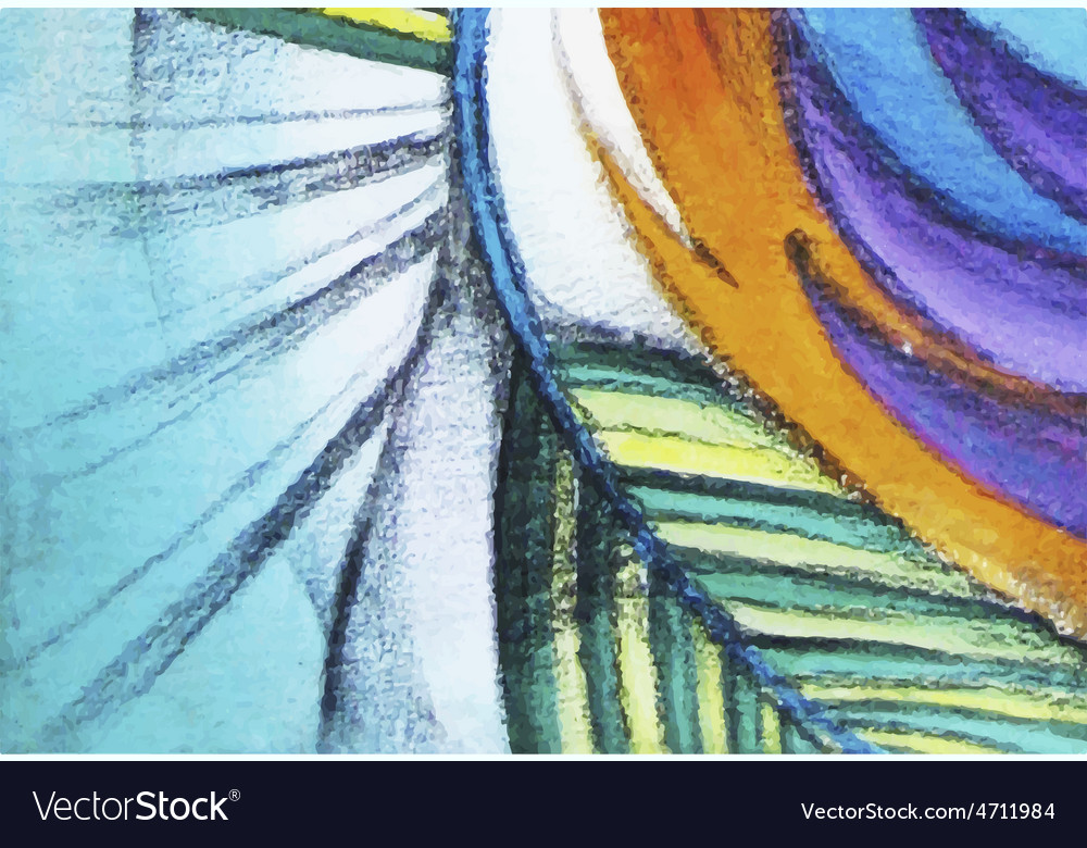 Abstract graphic colorful painting