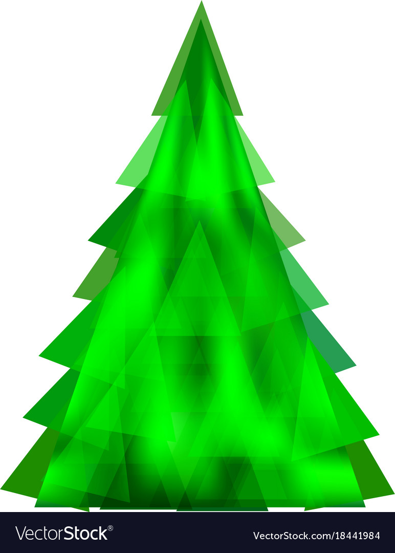 Abstract green christmas tree-template