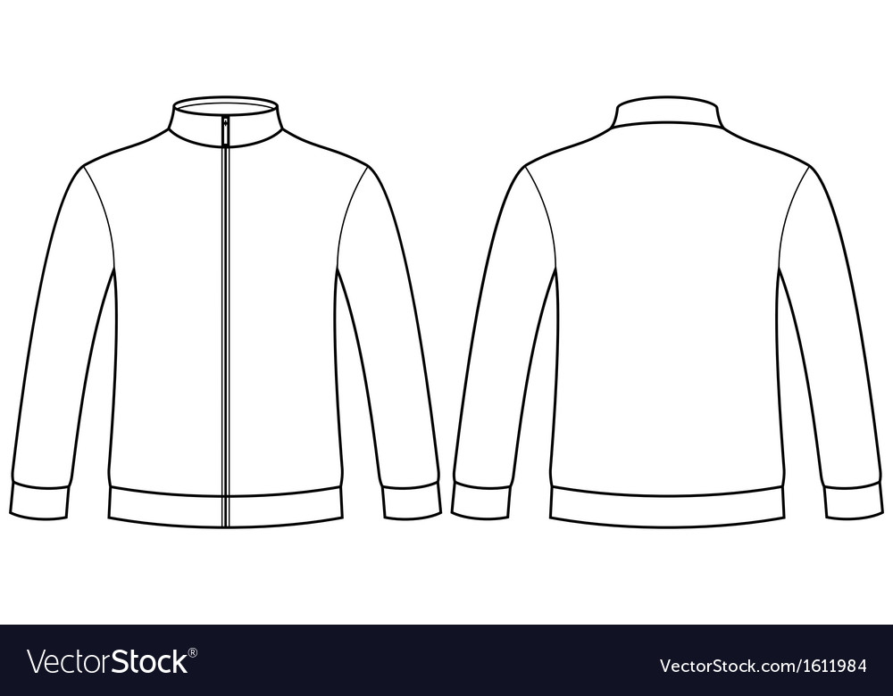 Blank Sweatshirt Template Royalty Free Vector Image - Blank tshirt template
