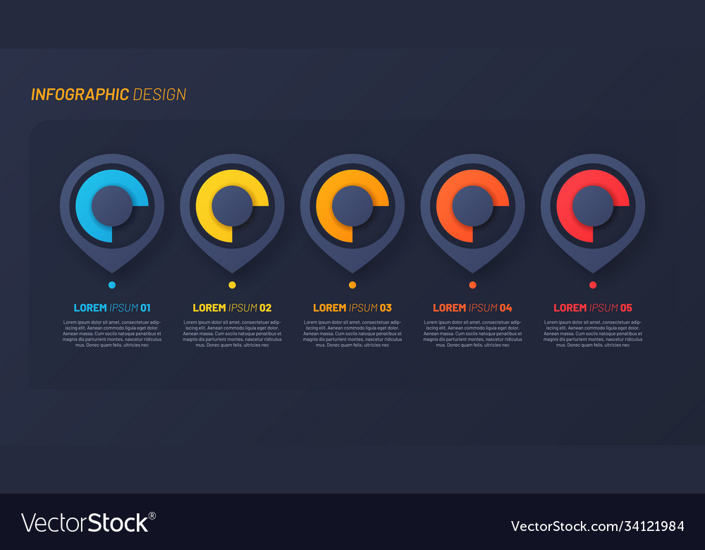 Colorful infographic design template concept