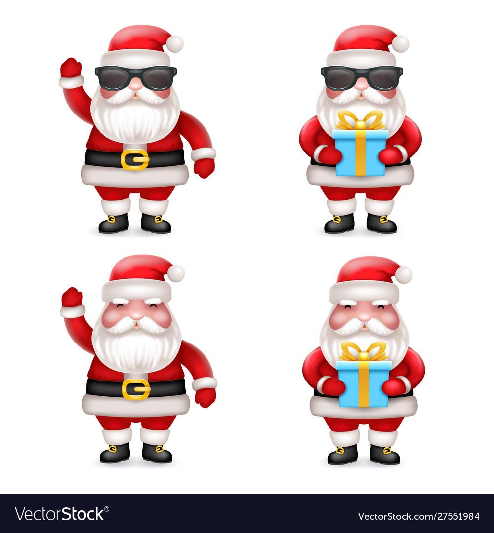 Cute 3d realistic cartoon secret santa claus toy