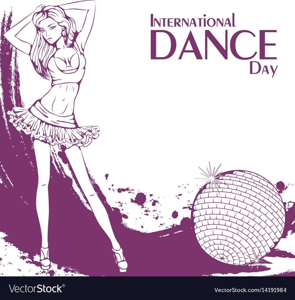 Dance day club dance vector image