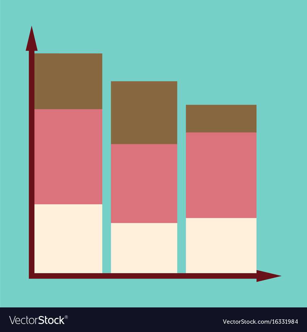 Flat icon on stylish background economic chart