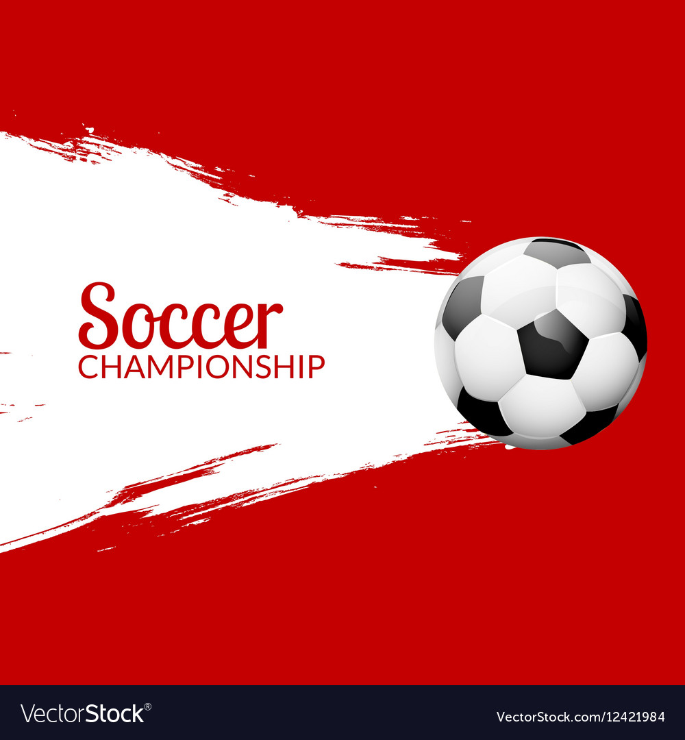 Football or soccer design poster with grunge