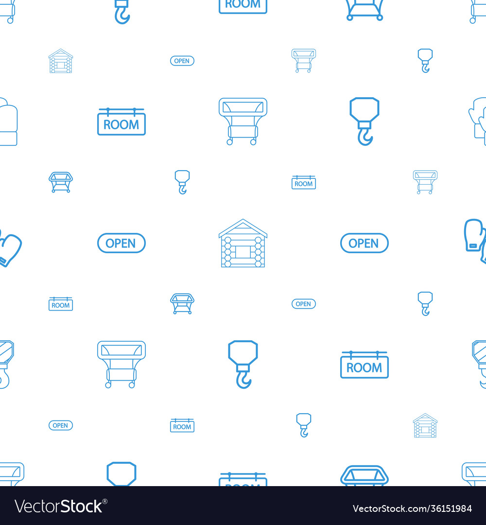 Hanging icons pattern seamless white background