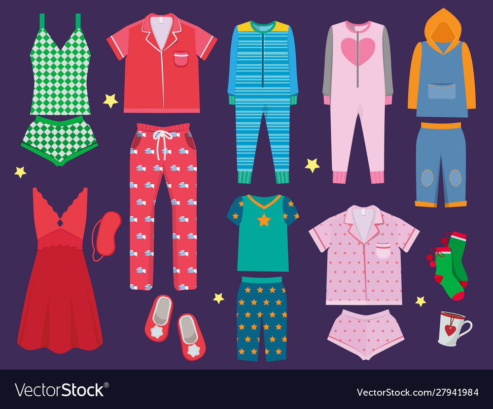 Pajamas set sleeping clothes collection for