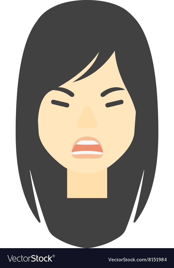 Screaming aggressive woman