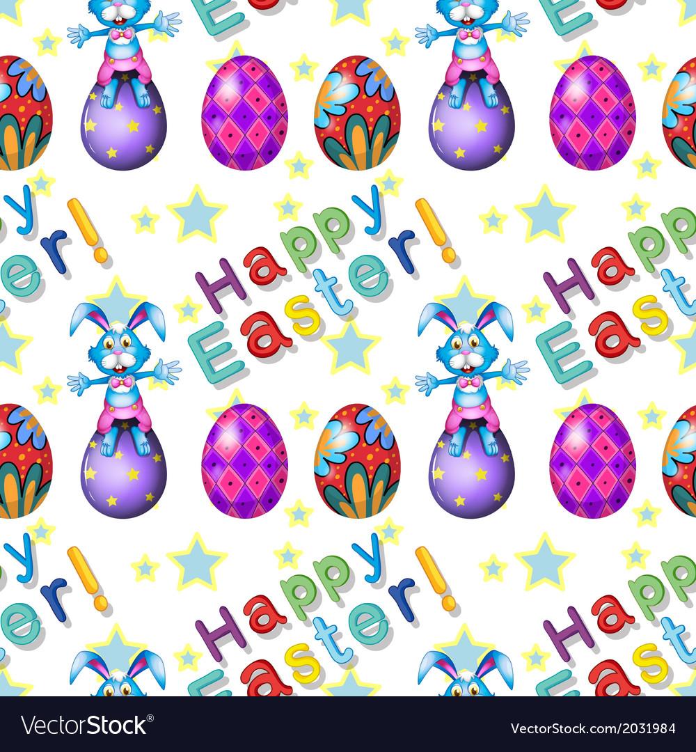 Seamless design for Easter Sunday