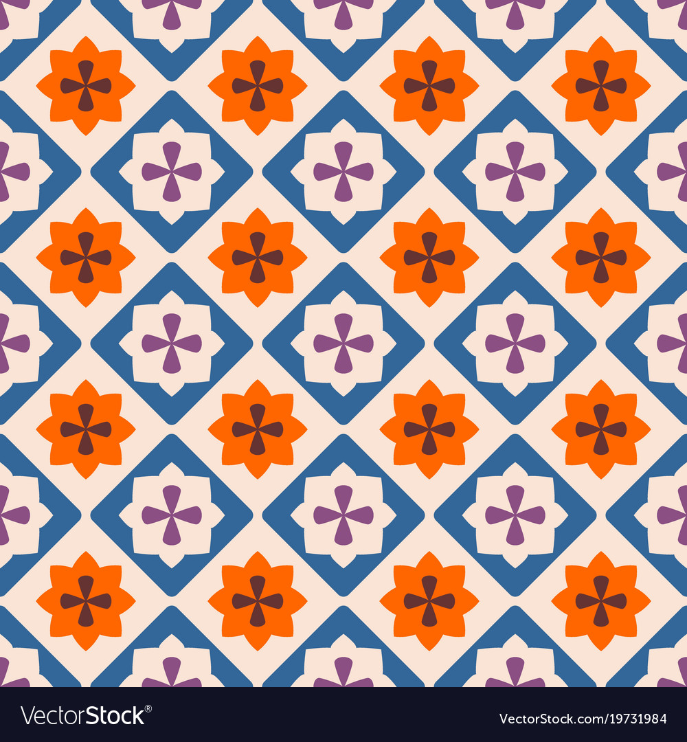 Tile decorative floor tiles pattern Royalty Free Vector