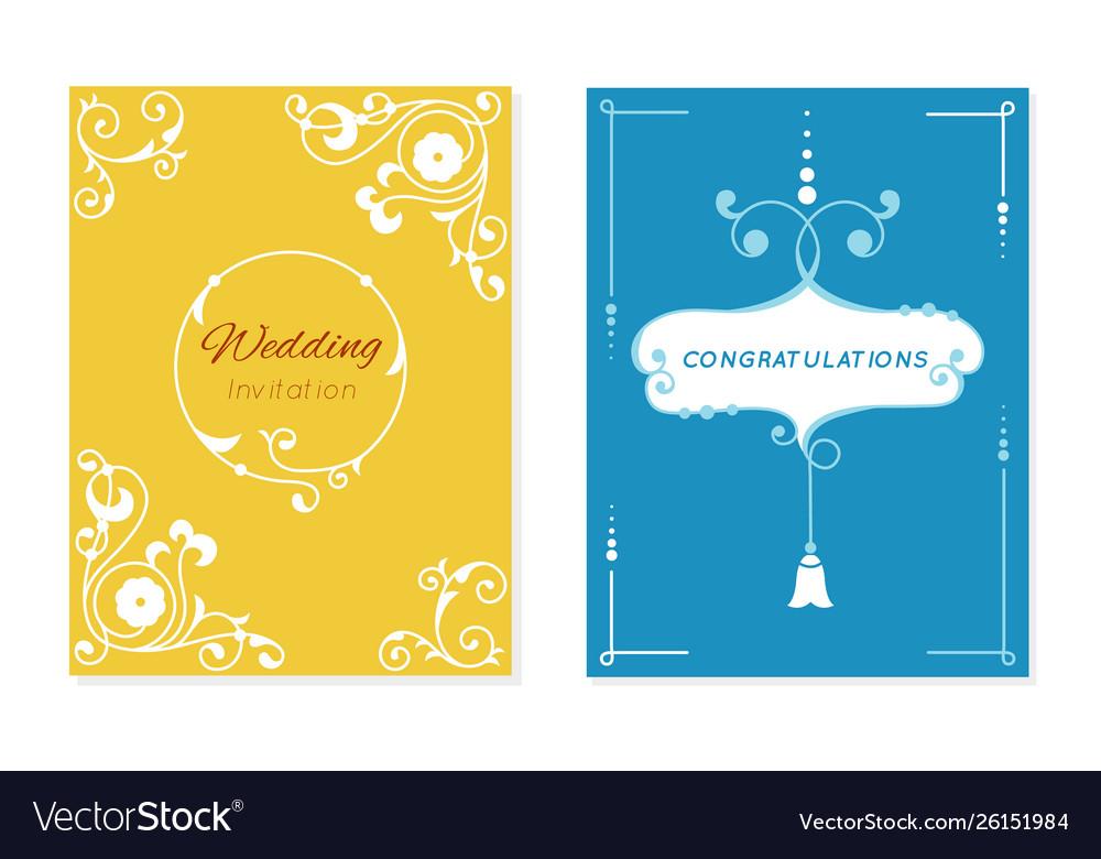 Wedding Retro Invitation Card Save Date