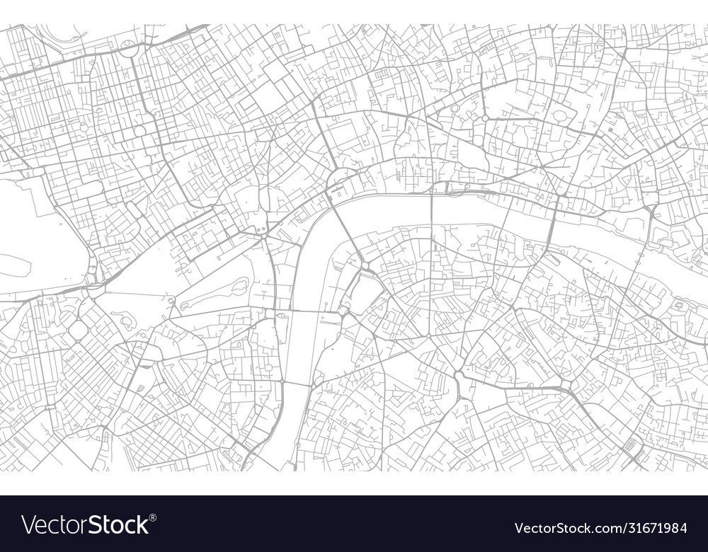 White and grey city map london