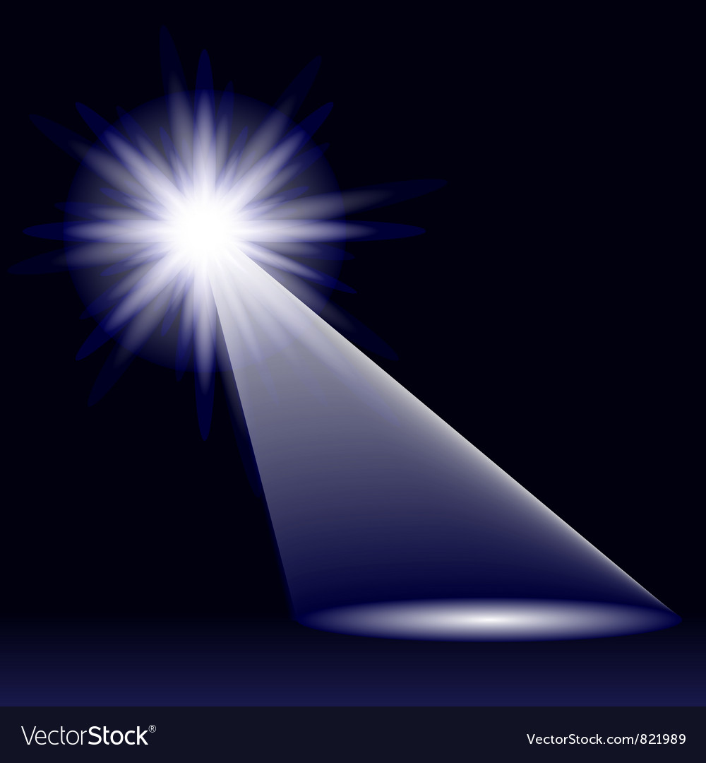 Abstract Blue Light vector image