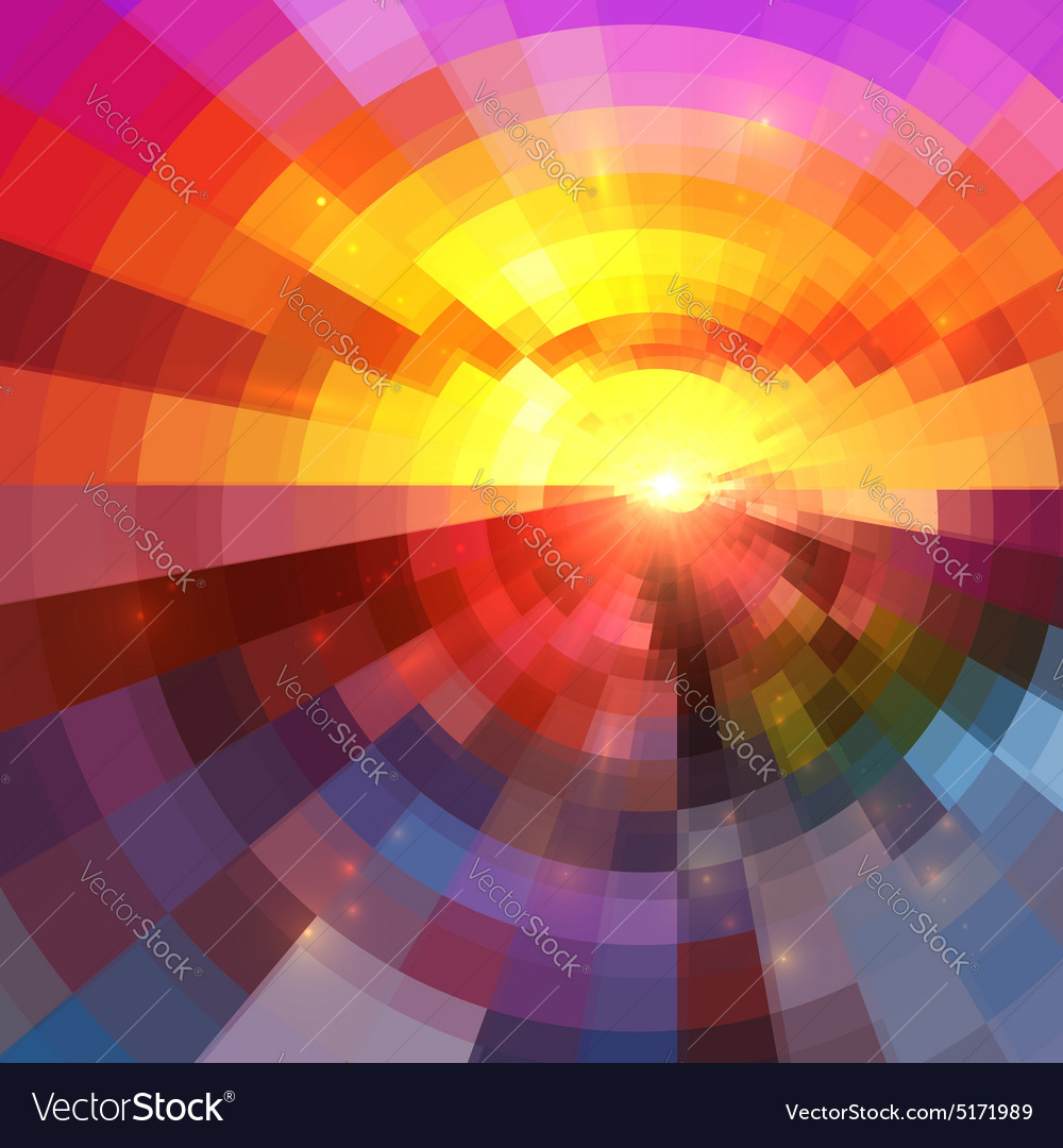 Abstract colorful circle technology