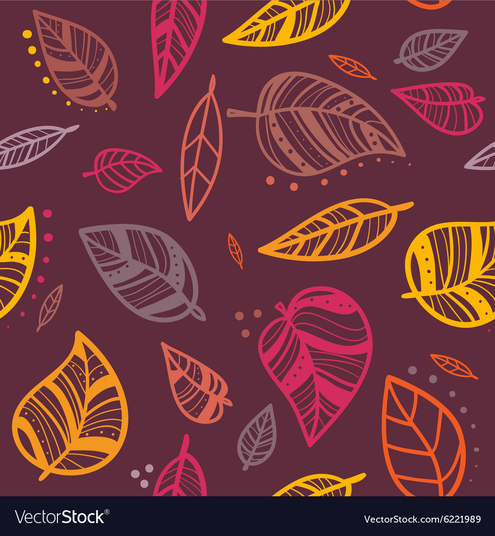 Fall pattern vector image