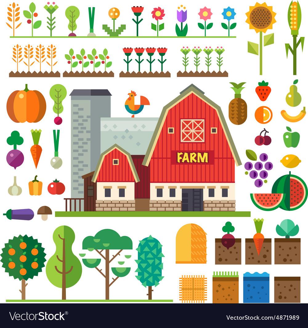 Farm in village
