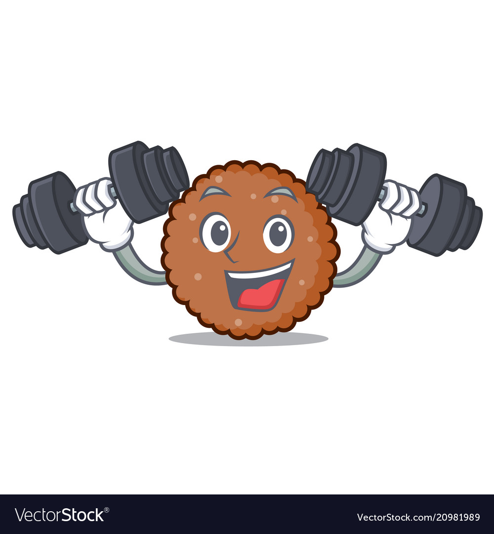 Fitness chocolate biscuit character cartoon