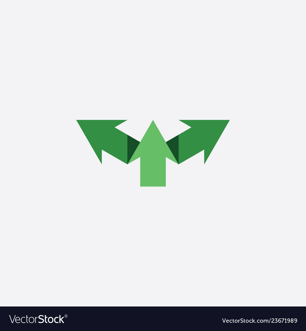 Green arrows symbol logo sign icon element