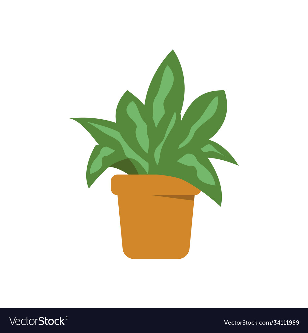 Green plant pot isolated