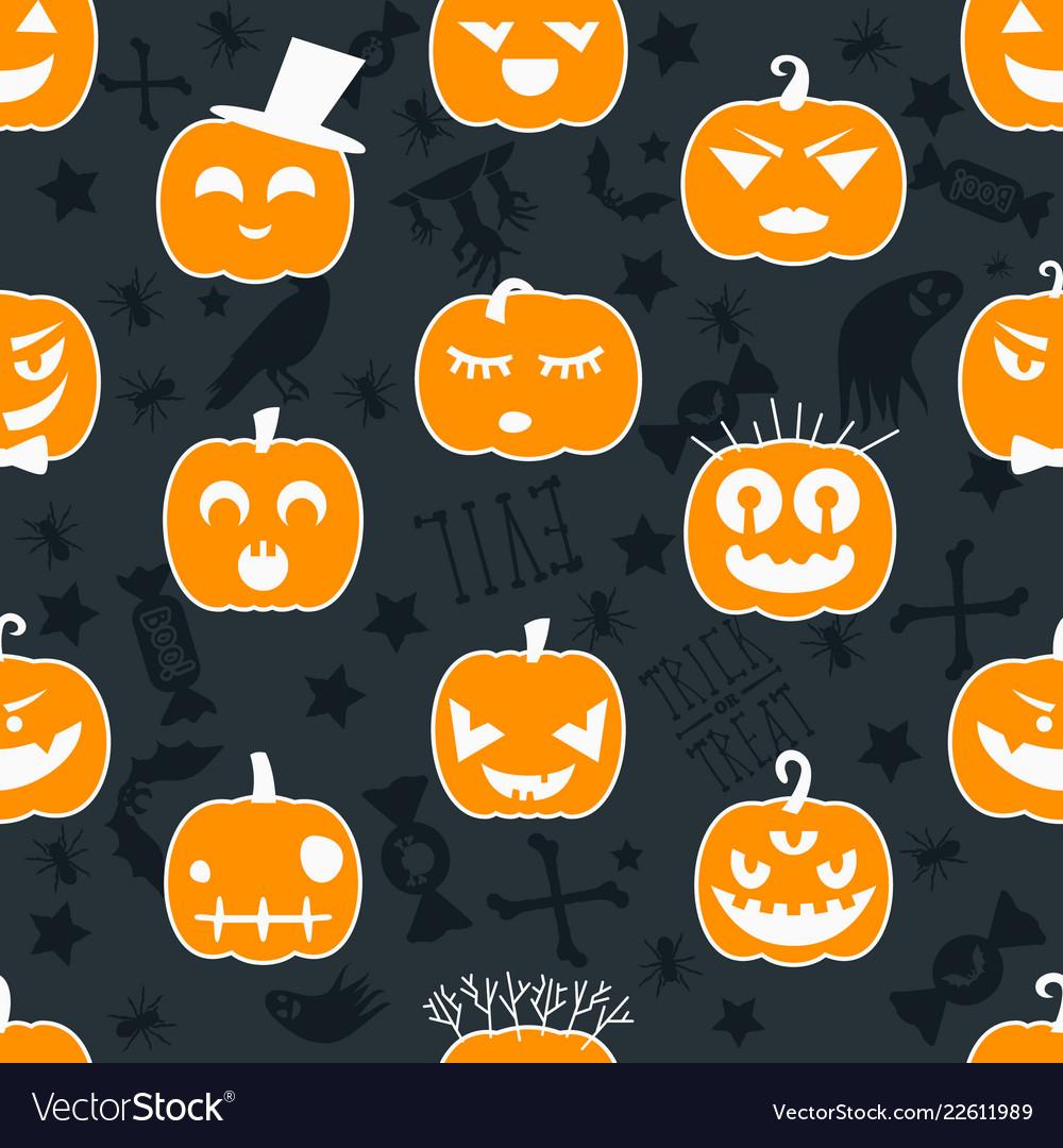 Halloween background seamless pattern design