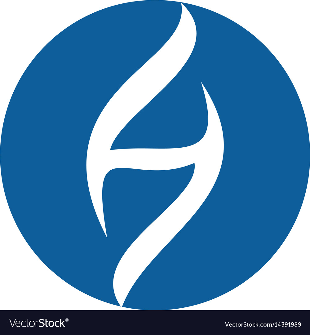 Letter h holistic health center logo design