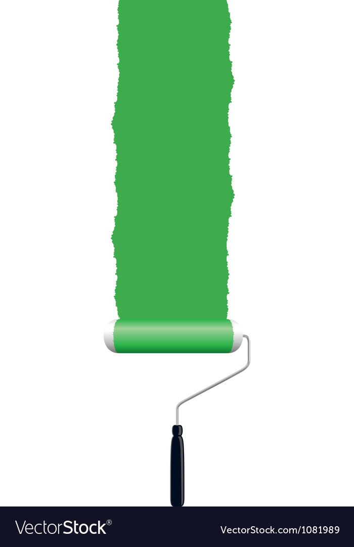 Paint roller green