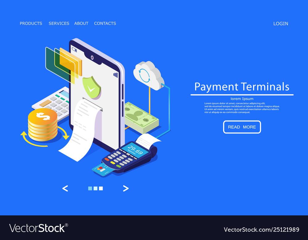 Payment terminals website landing page
