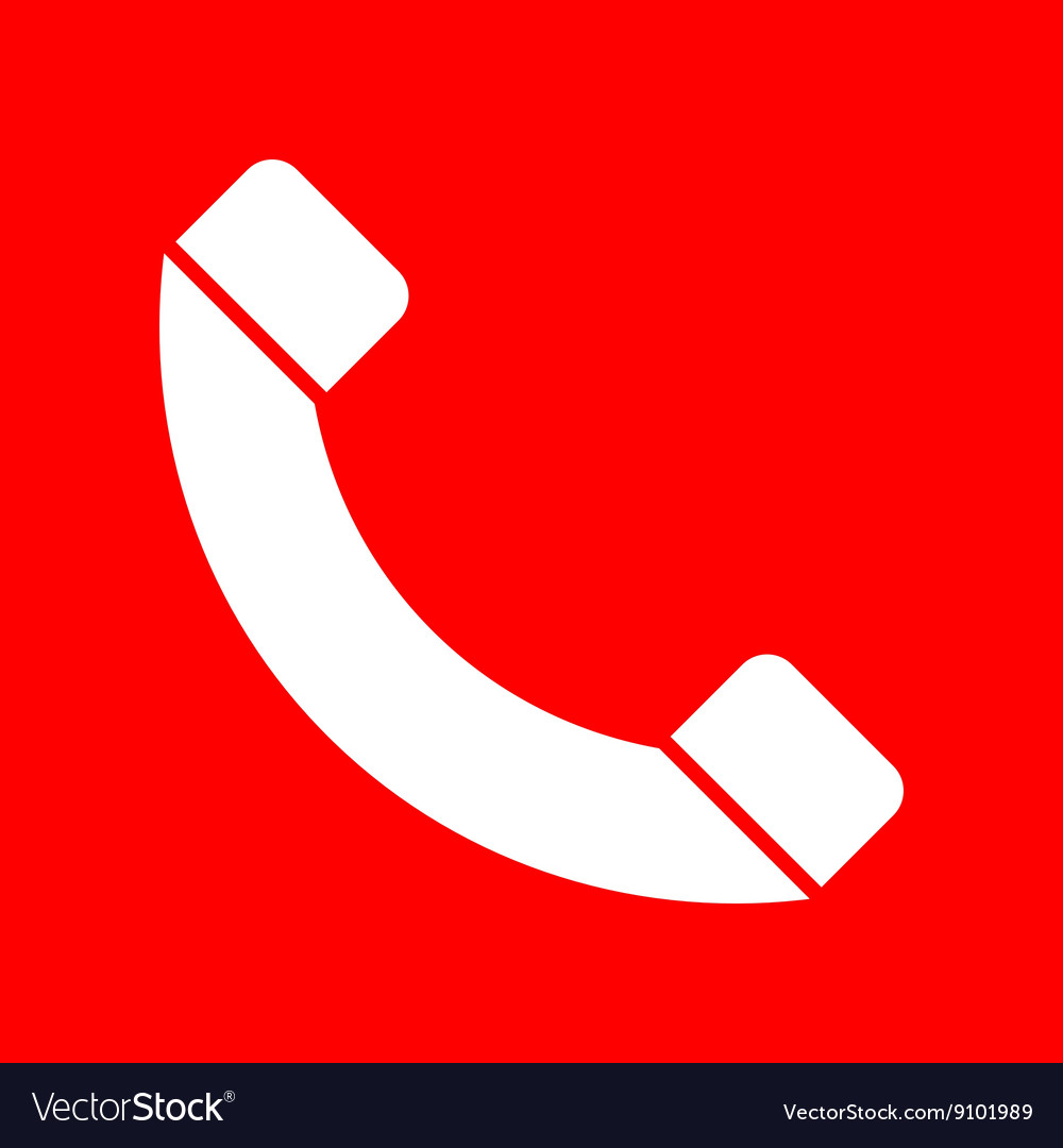 Phone sign vector image
