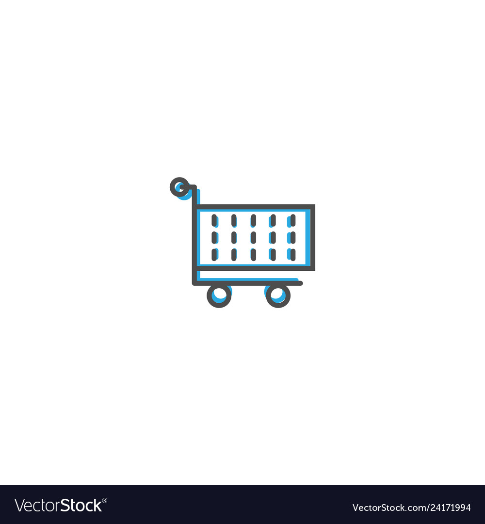 Cart icon line design business icon