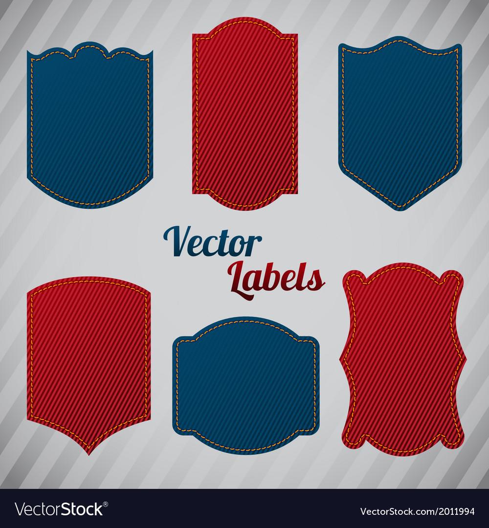 Grunge denim labels