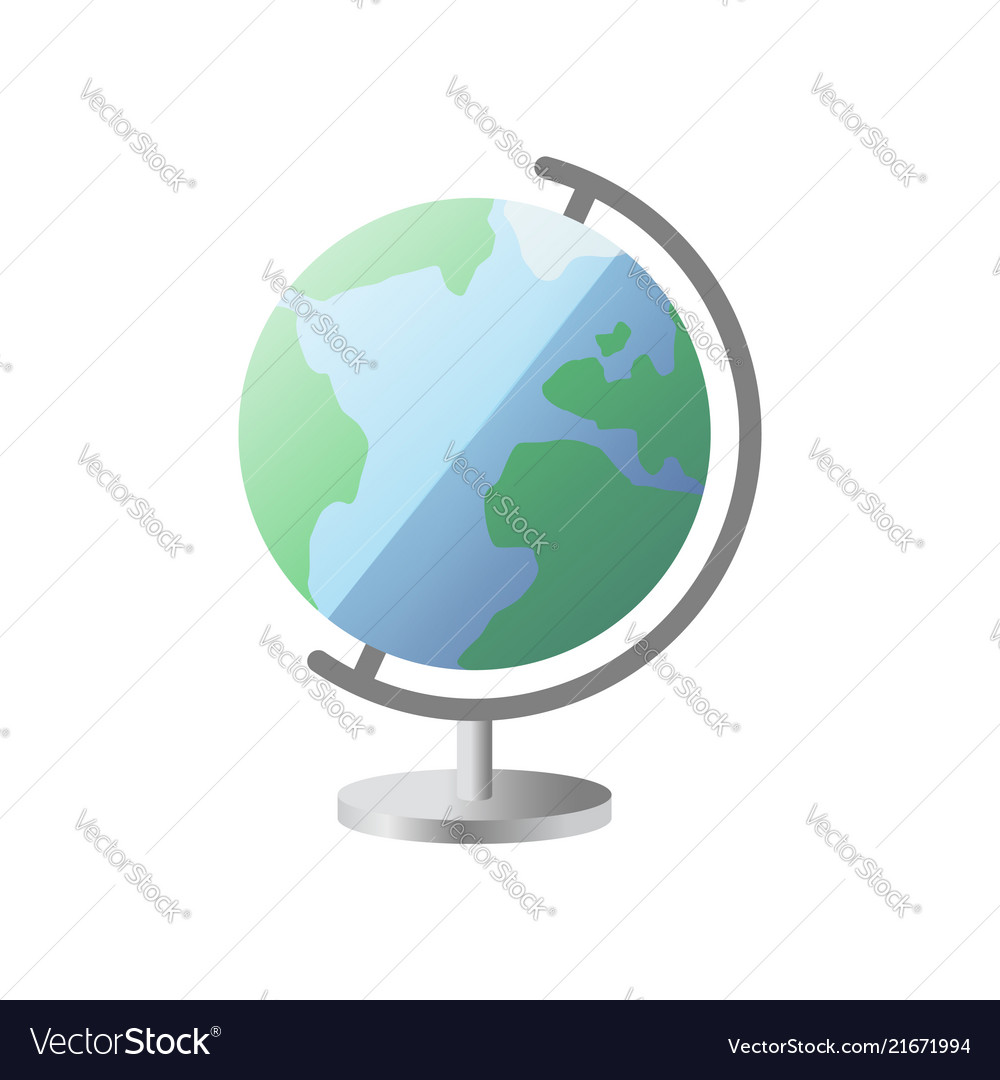 Icon globe with stand globe icon