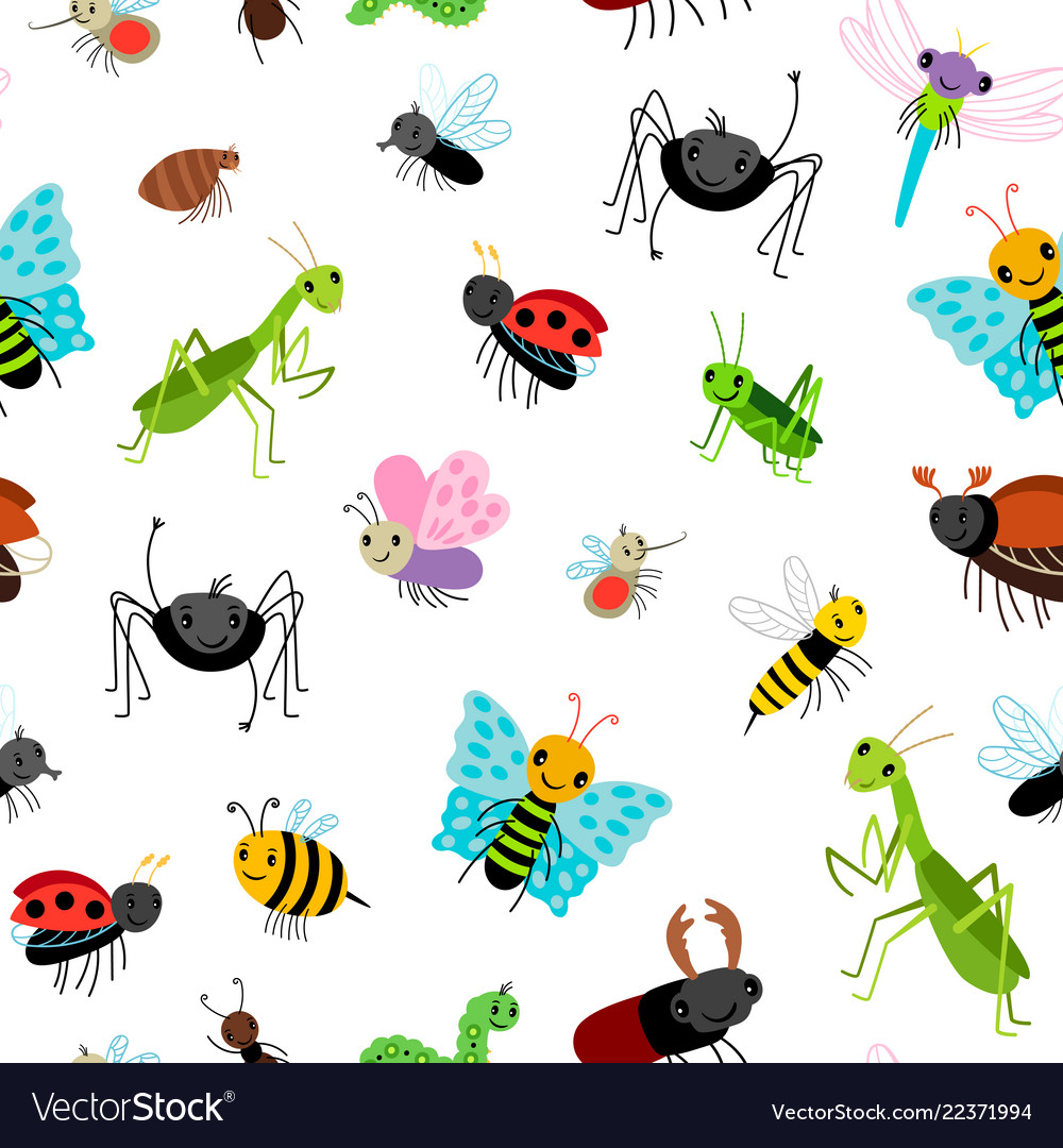 Insects colorful pattern