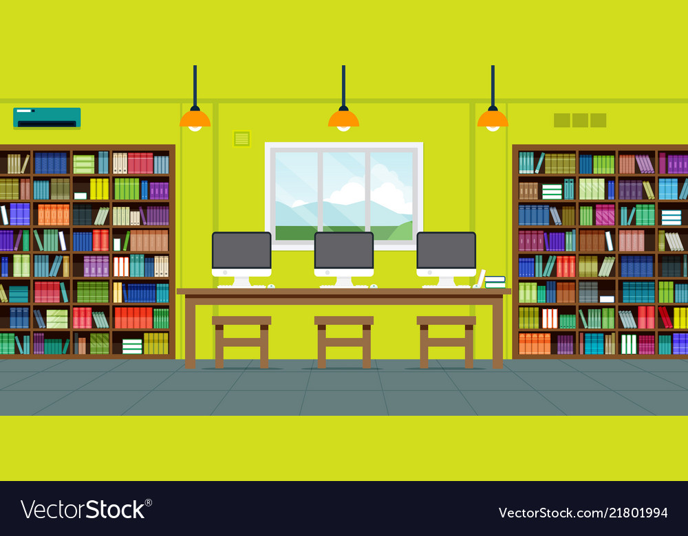 Readers in library