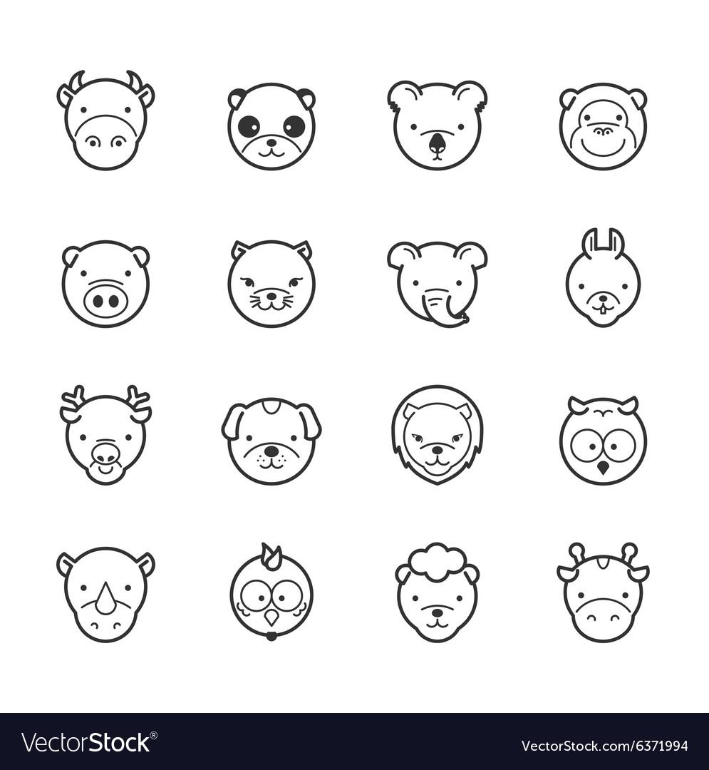 Set of animal icons eps10 format