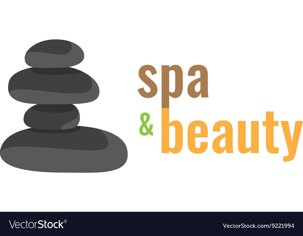 Spa health relaxation care of a logo Stones for