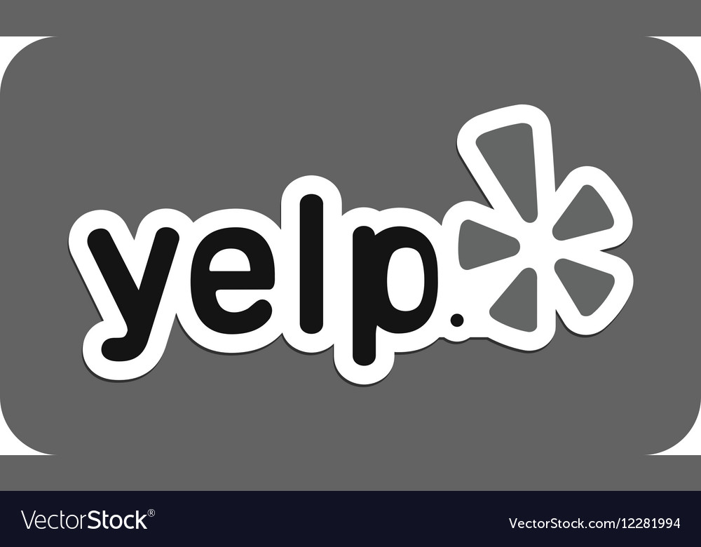 Yelp vector image
