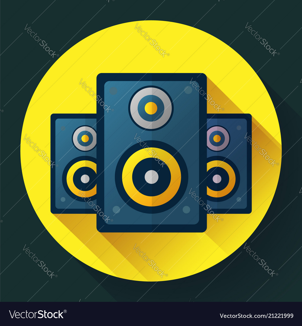 Audio music icon and media speaker icon