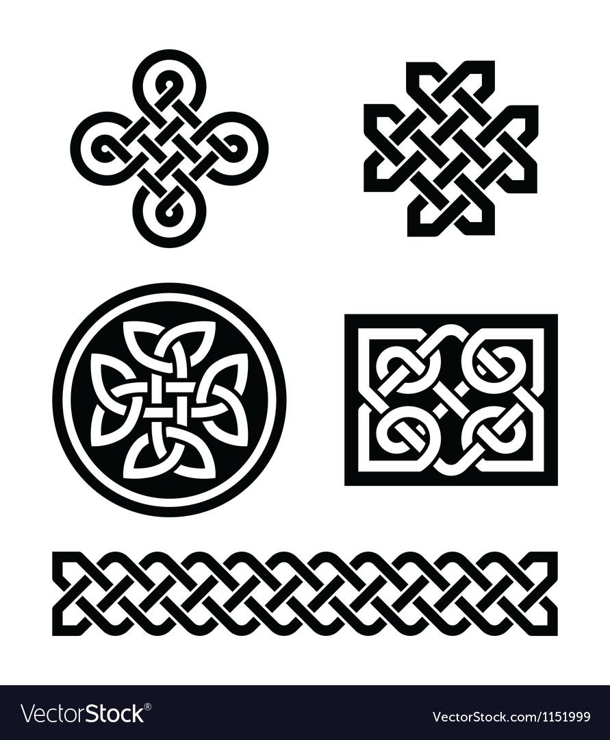Celtic knots patterns