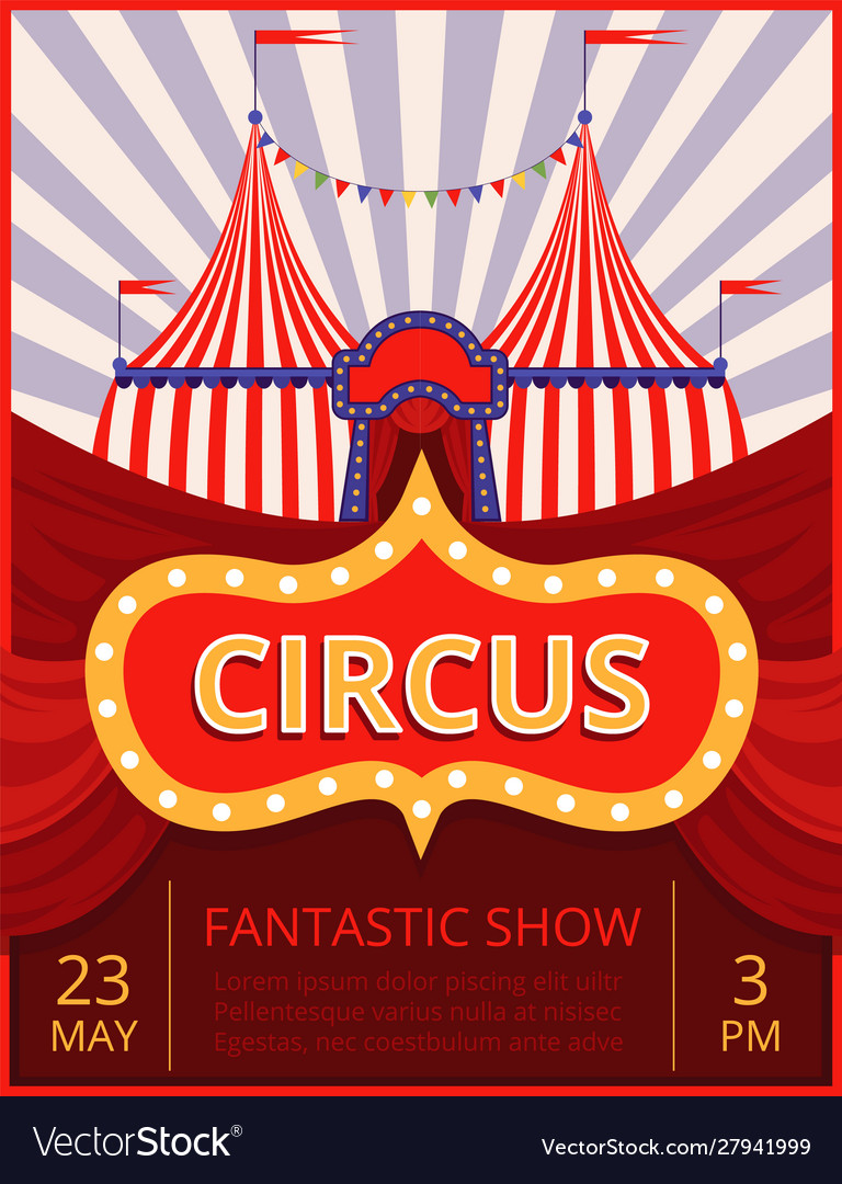 Circus invitation festival or party event poster
