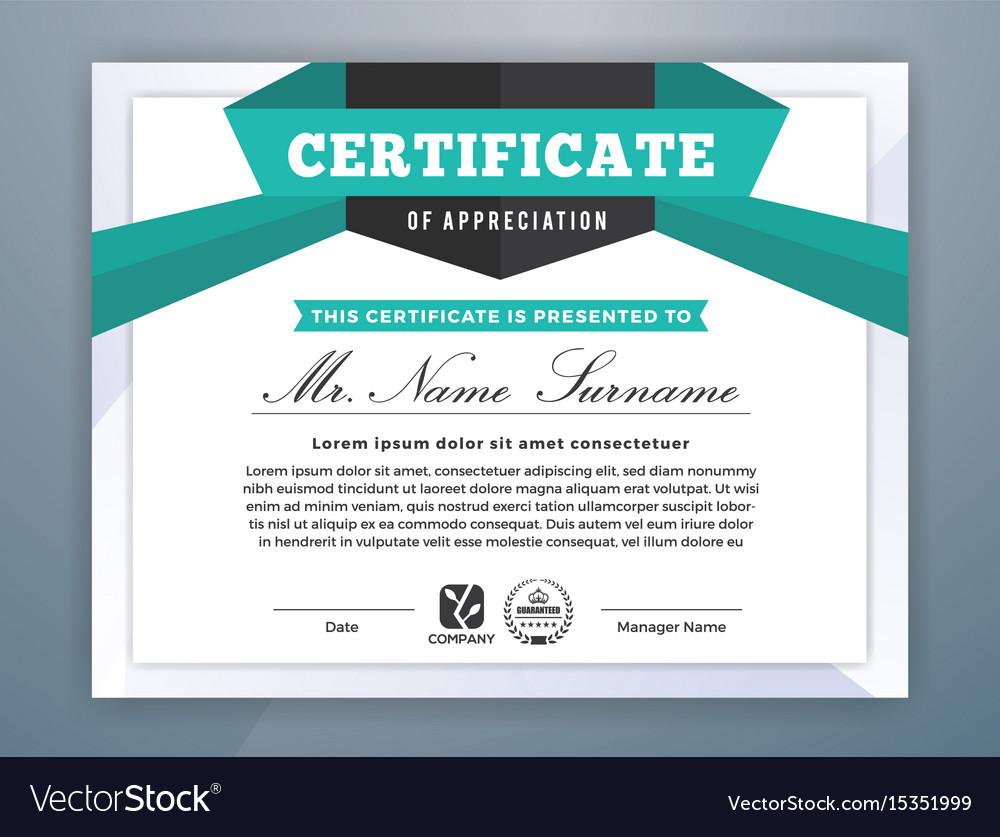 Multipurpose modern professional certificate