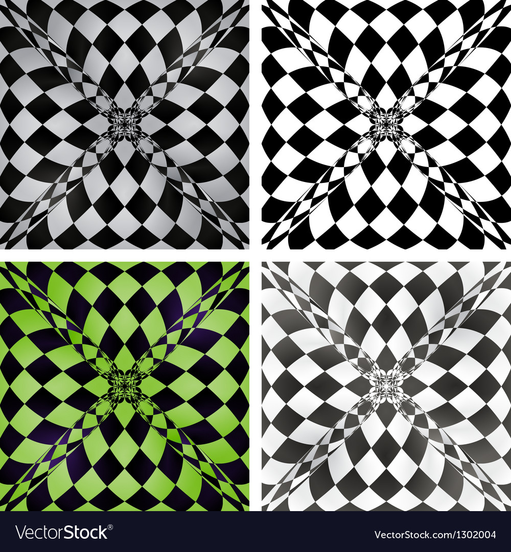 Abstract checkered background set eps10