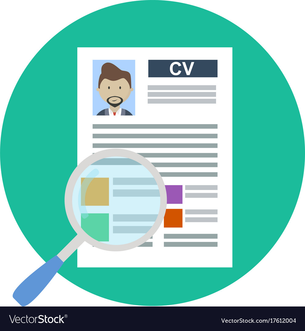 Cv Concept Review Candidate By Resume Royalty Free Vector