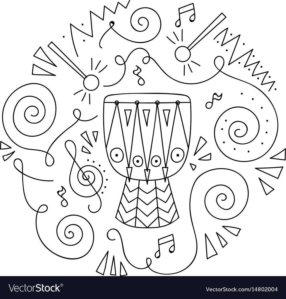 Doodle Drum Coloring Page