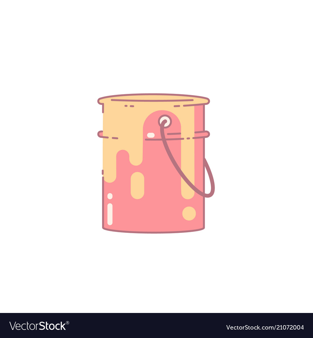 Paint can flat