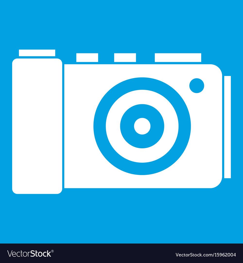Photo camera icon white