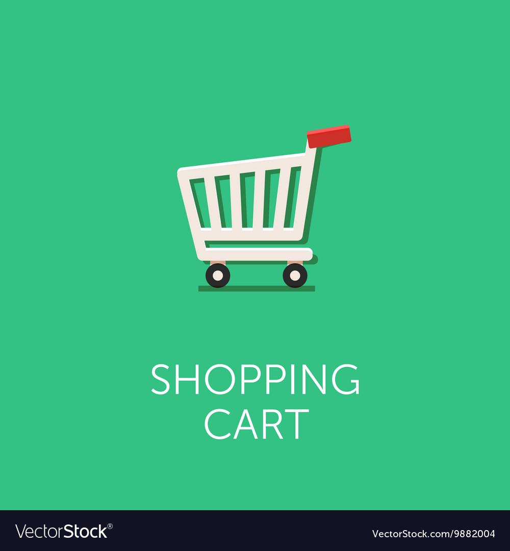 Shopping cart Icon Flat style design