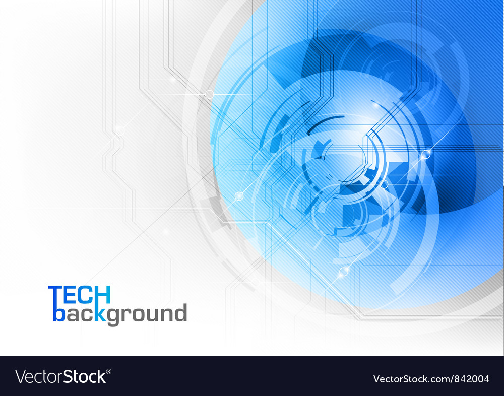 Tech background blue corner round