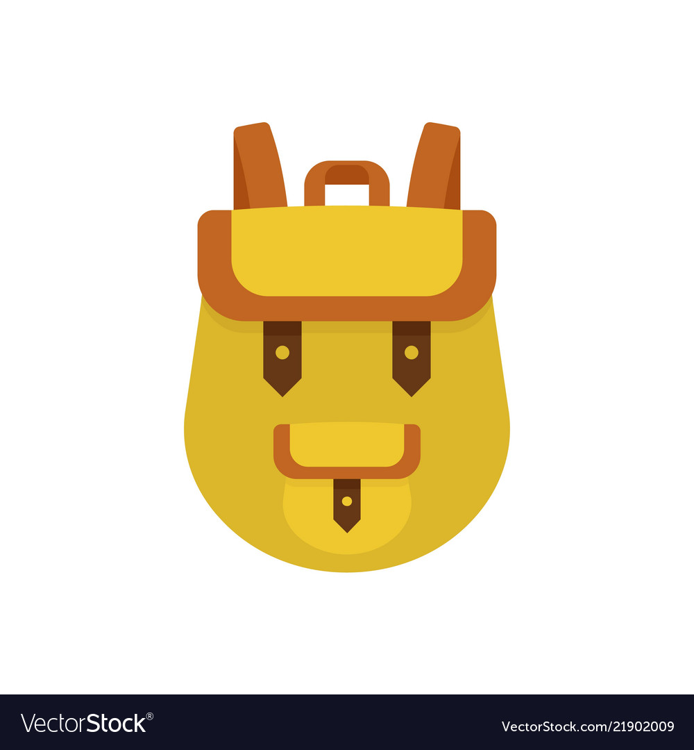 Backpack icon flat style